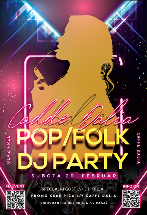 Ovog vikenda najluđa žurka u gradu - DJ Pop/folk PARTY - Caffe Dalia