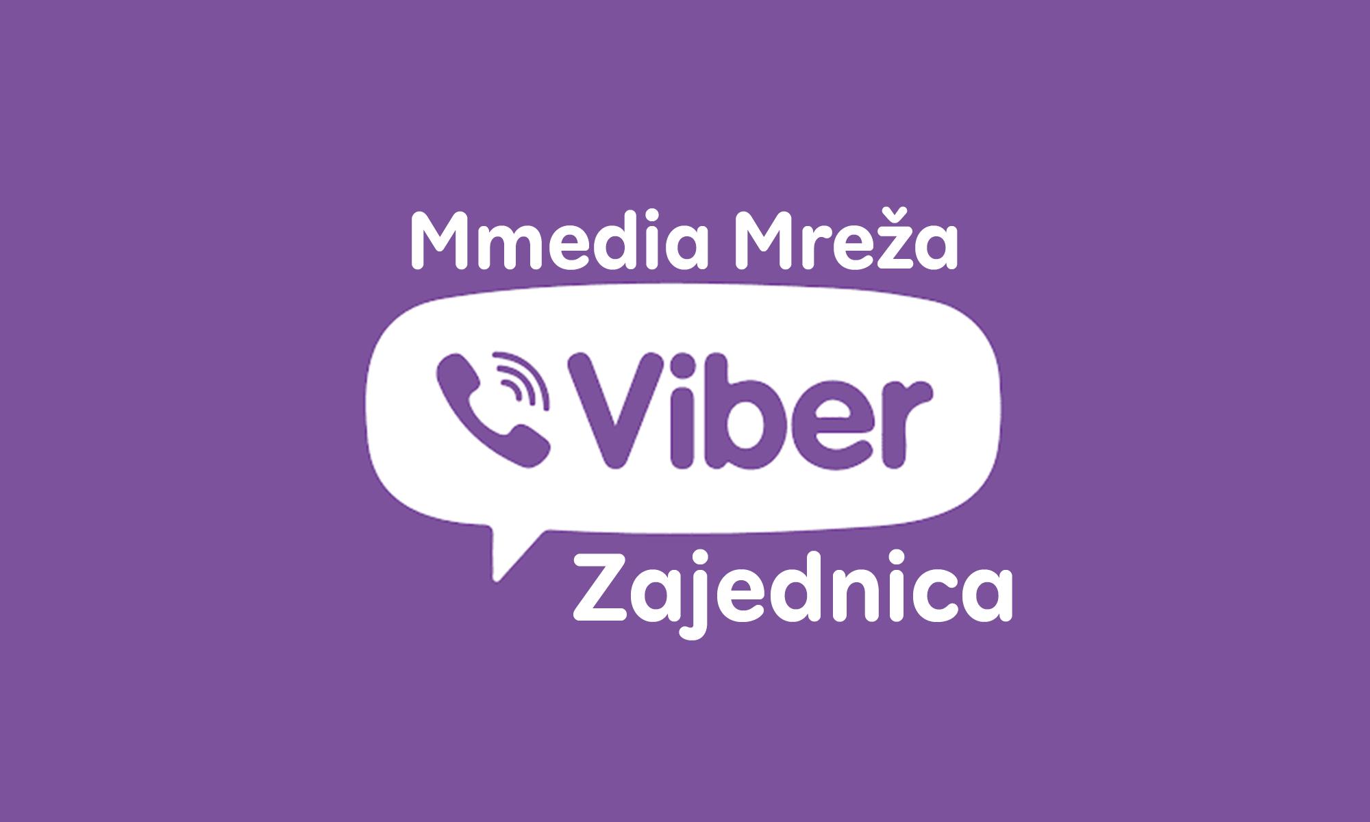 Otvorena je: Mmedia Mreža - Viber zajednica, pridružite se!