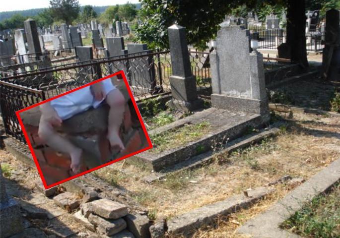 Nađen kako sedi na grobu! A pored flaša puna krvi (VIDEO)